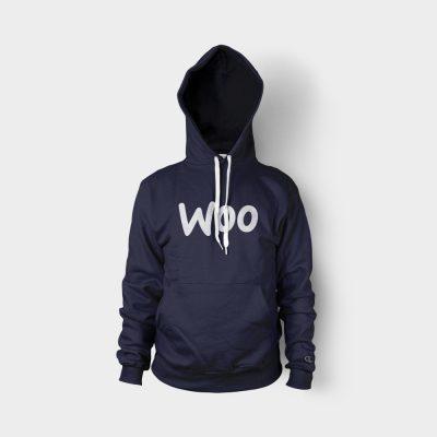 hoodie blue logo front